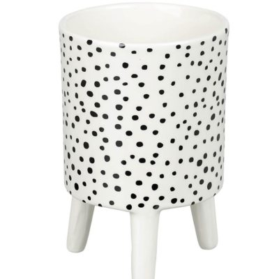 Small Monochrome Spotty Planter