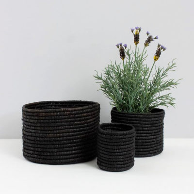 Black Raffia Baskets