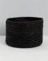 Black Raffia baskets