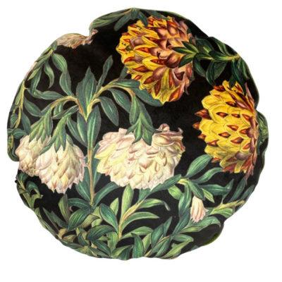 Exotic Flowers Velvet Cushion