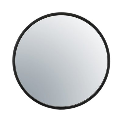 Black Circular Mirror