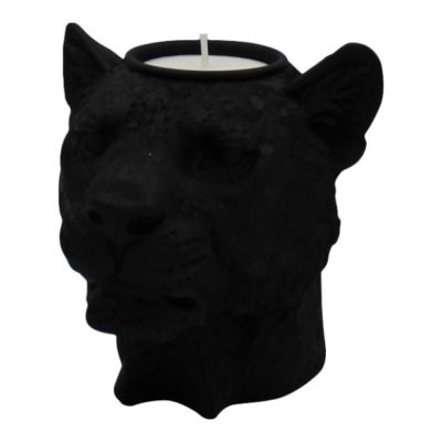 Lioness Head Candle Holders