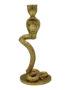 Gold Cobra Candle Holder
