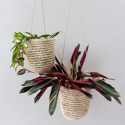 Palm Leaf Hanging Baskets