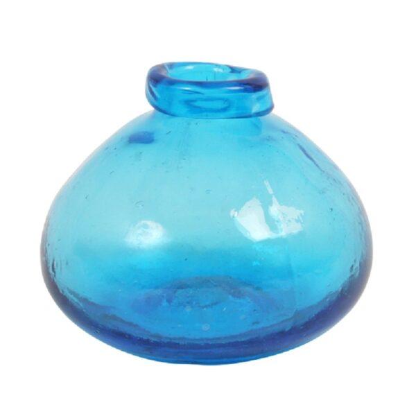 Navy Blue Glass Vase