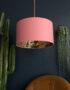 love Frankie rose gold lemur lampshade in dirty pink