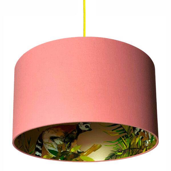 rose gold lemur lampshade dirty pink