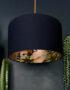 rose gold lemur lampshade in navy