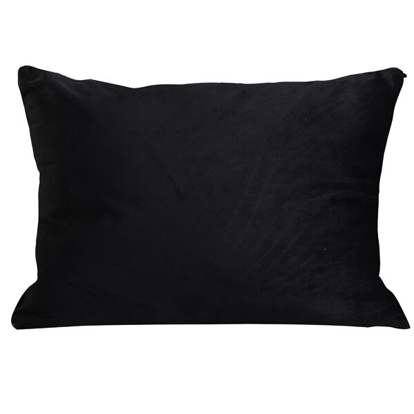 Dark Green Leopard Print Bolster Cushion Back