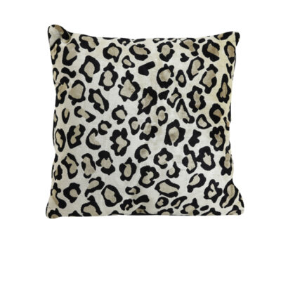 Light Brown Leopard Print Cushion