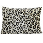 Light Brown Leopard Print Bolster Cushion