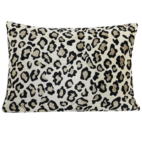 Light Brown Leopard Print Bolster Cushion