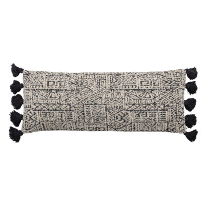 Monochrome Aztec Bolster Cushion