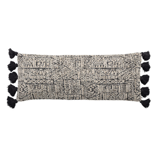 Monochrome Aztec Bolster Cushion