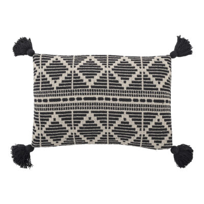 Monochrome Recycled Cotton Cushion