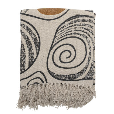 Oatmeal Abstract Recycled Cotton Throw