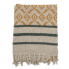 Oatmeal Recycled Cotton Throw