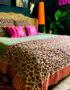 Leopard print cotton throw