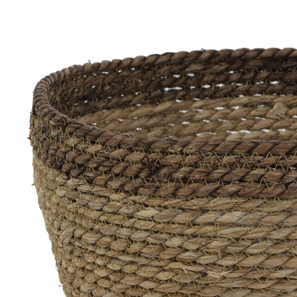 Natural and Brown Shallow Basket