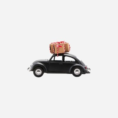 love-frankie-black-car-christmas-decoration