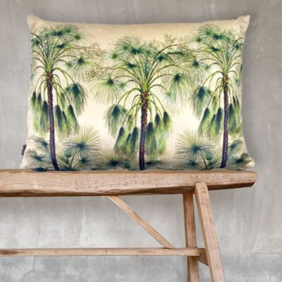 love-frankie-green-palms-cushion