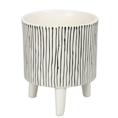 love-frankie-large-monochrome-stripey-planter
