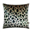 love-frankie-green-leopard-velvet-cushion