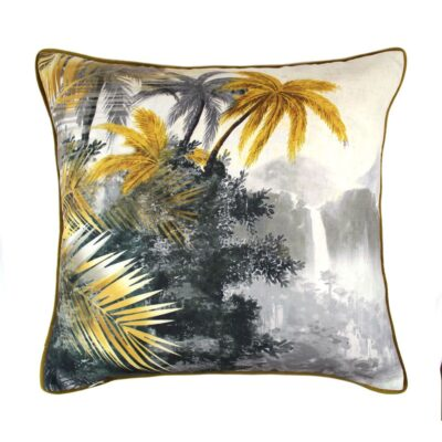 love-frankie-paradise-cushion-grey-and-ochre