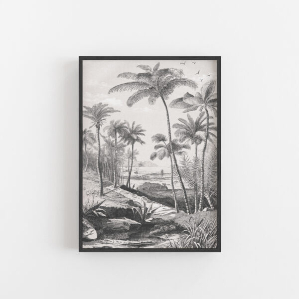 love-frankie-monochrome-palm-beach-wall-hanging