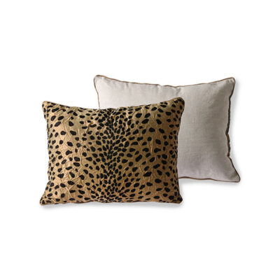love-frankie-gold-flock-panther-cushion