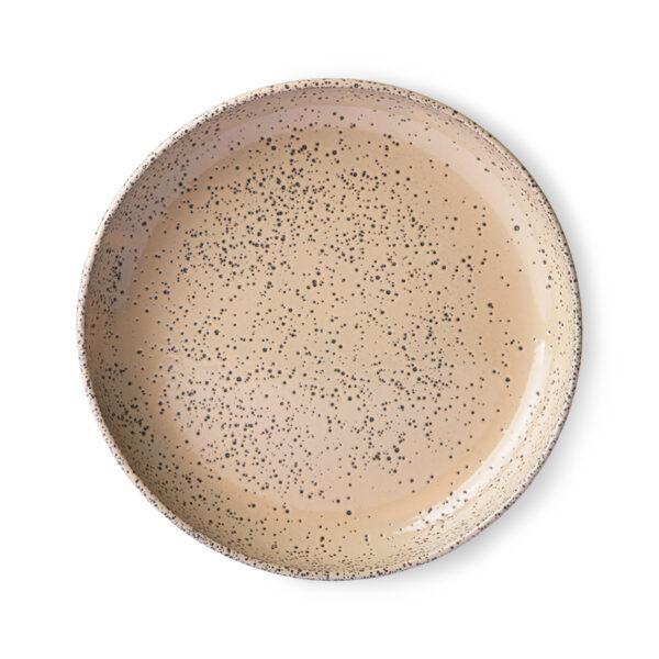 love-frankie-speckled-taupe-dinner-plate