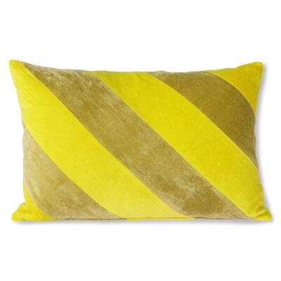love-frankie-striped-yellow-and-green-velvet-bolster-cushion