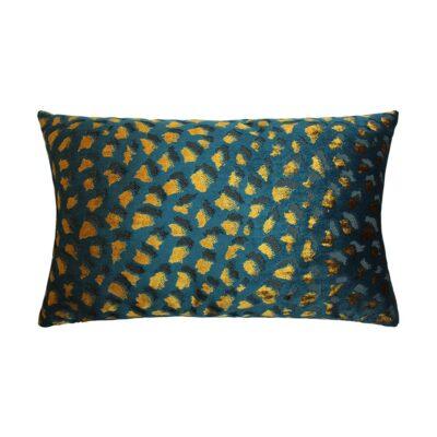 love-frankie-teal-and-mustard-leopard-velvet-bolster-cushion