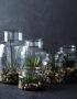 clear glass storage jar