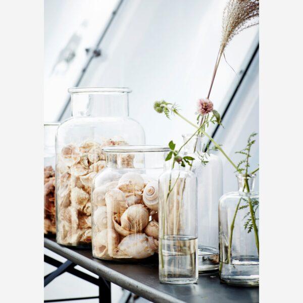 love-frankie-clear-glass-jar-large