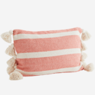 love-frankie-coral-striped-cushion-with-tassels