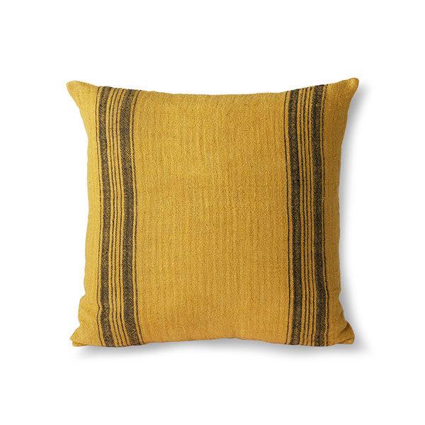 love-frankie-mustard-linen-cushion