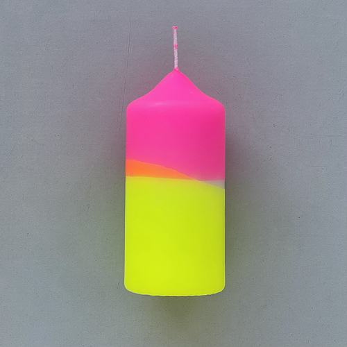 love-frankie-large-neon-pillar-candle-in-acid-yellow