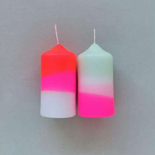 love-frankie-medium-pillar-candle-set-pink-and-mint