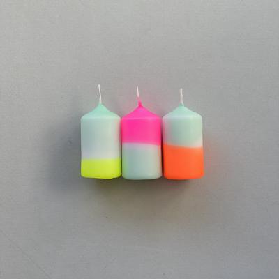 love-frankie-mini-pillar-neon-candle-set