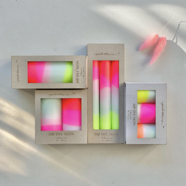Gift boxed Neon Candles