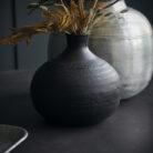 love-frankie-jet-black-textured-vase-in-small