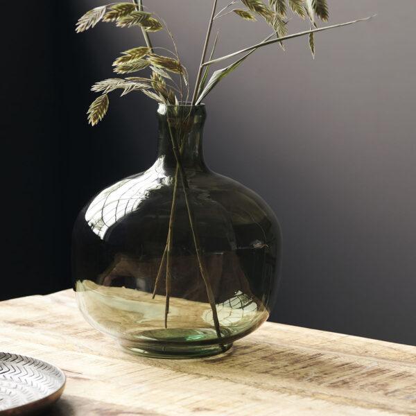 love-frankie-sage-green-glass-vase