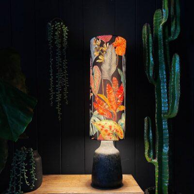 Trippy Tropical Acid Jungle Velvet Tall Tube Lampshade