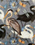 The Tranquil Bird Song Heron Lampshade Close up