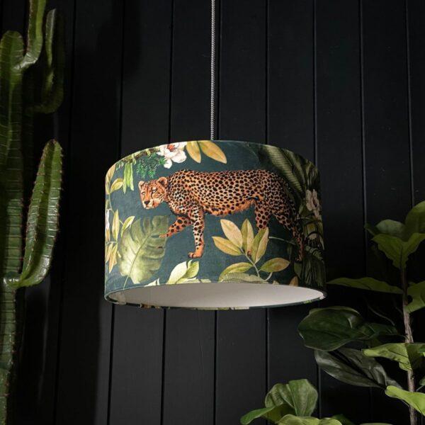Handmade Tropical Jungalist Massive Leopard Lampshade