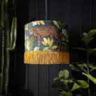 Handmade Tropical Jungalist Massive Leopard Lampshade with fringing