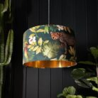 Handmade Tropical Jungalist Massive Leopard Lampshade with gold lining