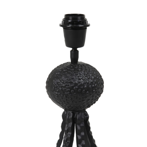 Textured Black Octopus Table Lamp Fitting