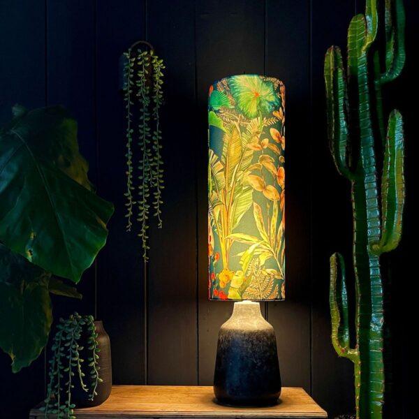 Handmade By Love Frankie Tropical Leaf Magic Fruits Tube Lampshade